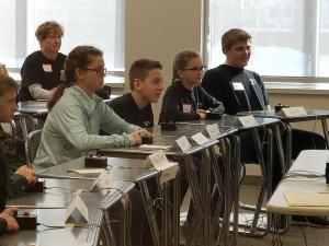 Minnesota 4-H Project Bowl participants in classroom