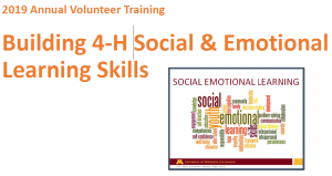 Building 4-H Social and Emotional Learning Skills