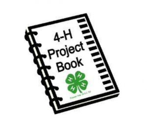 Cartoon drawing of 4-H Project Record