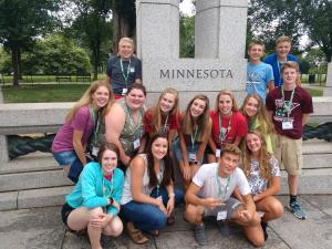 Minnesota 4-H youth attending CWF
